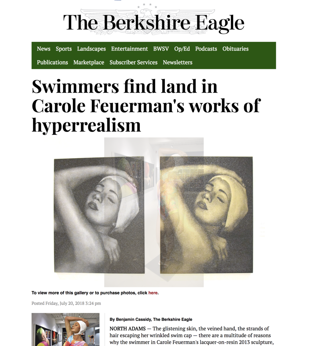 Swimmers find land in Carole Feuerman's works of hyperrealism