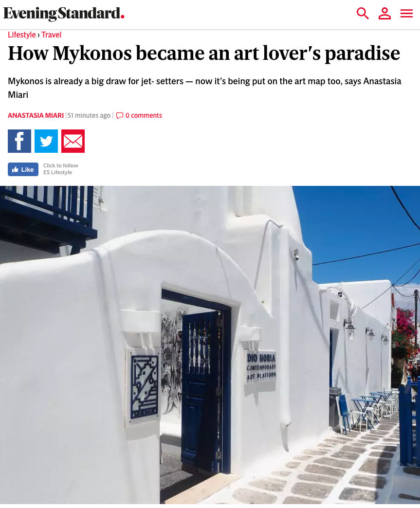 How Mykonos became an art lover's paradise