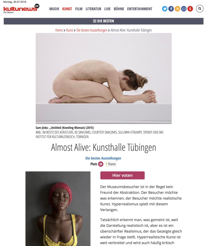 Almost Alive: Kunsthalle Tübingen