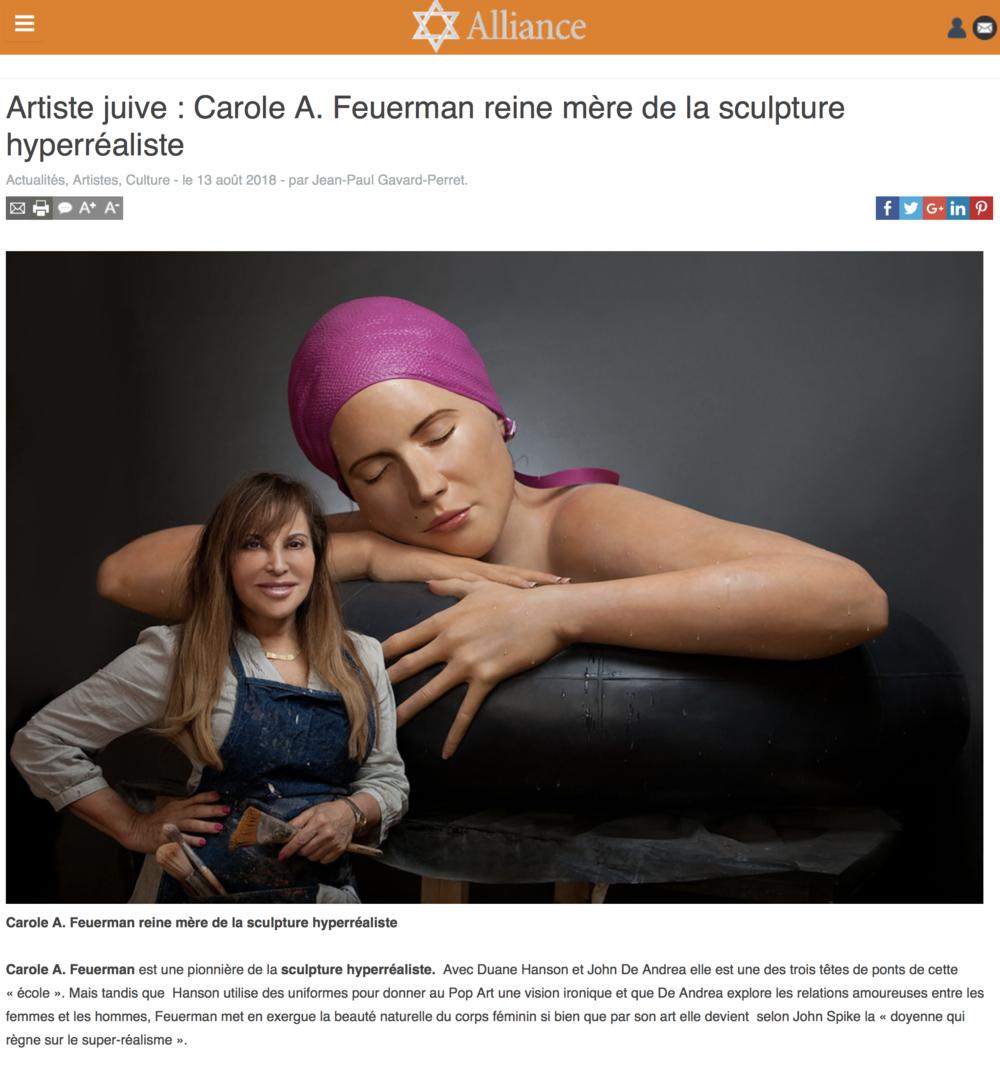 Artiste juive : Carole A. Feuerman reine mère de la sculpture hyperréaliste