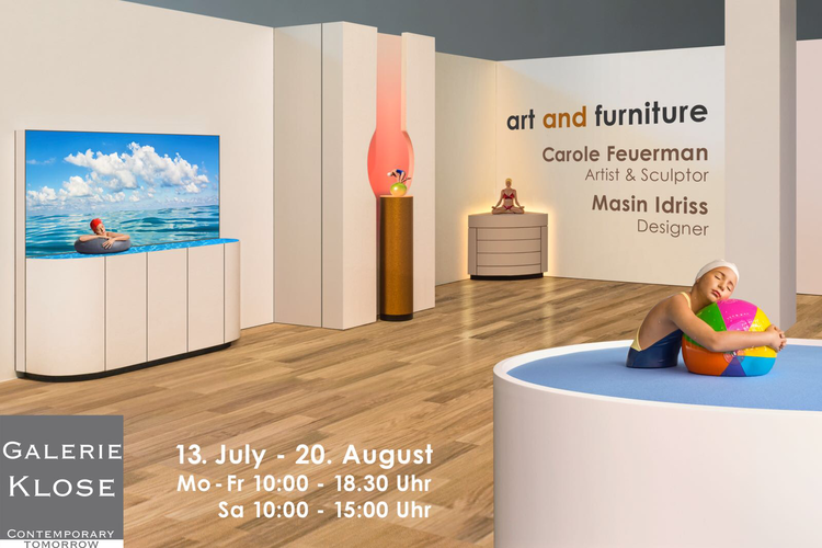 Art and Furniture - July 13, 2018 - August 20, 2018Galarie KloseRüttenscheider Str. 221,D - 45131 EssenTel : + 49 - 201 - 794080 |www.galerie-klose.deMon - Fri: 10:00am - 6:30pmSat: 10:00am - 3:00pm