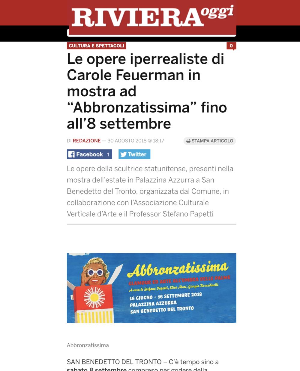 """Le opere iperrealiste di Carole Feuerman in mostra ad """"Abbronzatissima"""" fino all'8 settembre"""