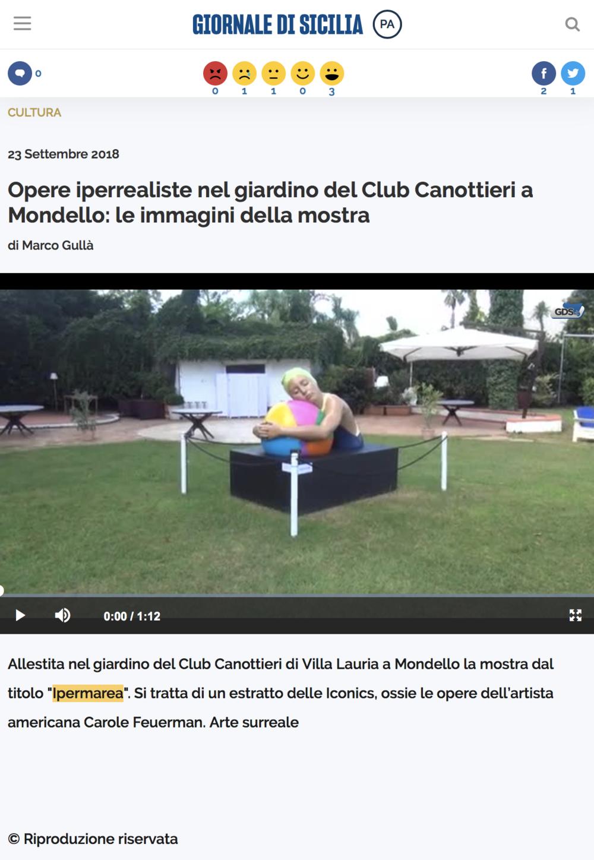 Opere Iperrealiste nel Giardino del Club Canottieri a Mondello: Le Immagini della Mostra