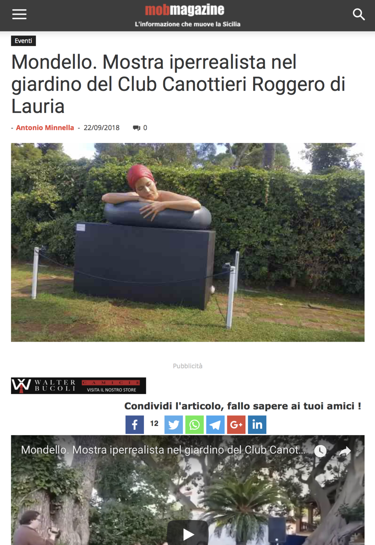 Mondello. Mostra iperrealista nel giardino del Club Canottieri Roggero di Lauria