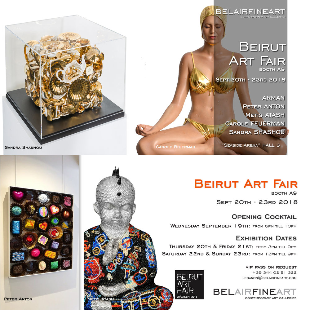 BEIRUT ART FAIR - In collaboration with BeAir Fine Art will be featuring Carole Feuerman's Hyperrealist Art.