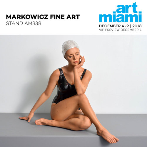 Art Miami - Markowicz Fine Art will present a solo installation of hyperrealist sculptor, Carole A. Feuerman highlighted by Michelangelo Bastiani'sMonumental Marmore Wall.December 4 - 9, 2018FIRST VIEW VIP Preview: Tuesday, December 4, 2018 4:30pm - 5:30pm Wednesday - Saturday, December 3: 11am to 8pmSunday, December 4: 11am to 6pmArt MiamiThe Art Miami PavilionOne Miami Herald Plaza @ NE 14th StreetDowntown MiamiOn Biscayne Bay between the Venetian & Macarthur Causeways