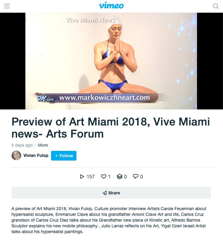 Preview of Art Miami 2018, Vive Miami news- Arts Forum