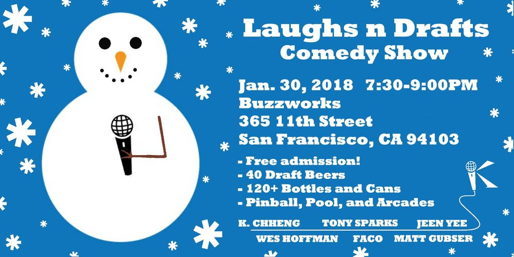 Laughs n Drafts Jan 30 BuzzWorks