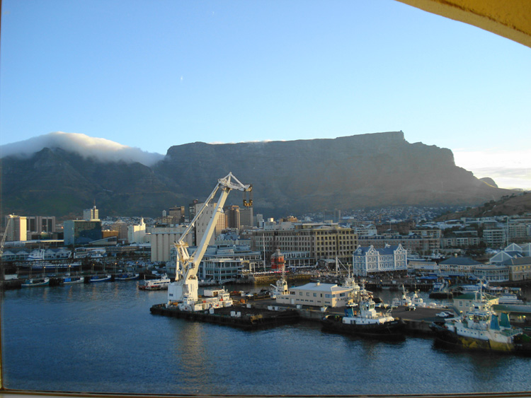Table Mountain from the hotel