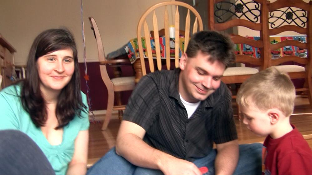 Wendi and I Celebrating Evan's fourth B-day!