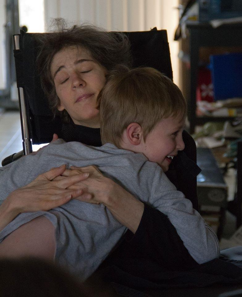 Mother and Son share a hug on his birthday, a year before she would pass away.