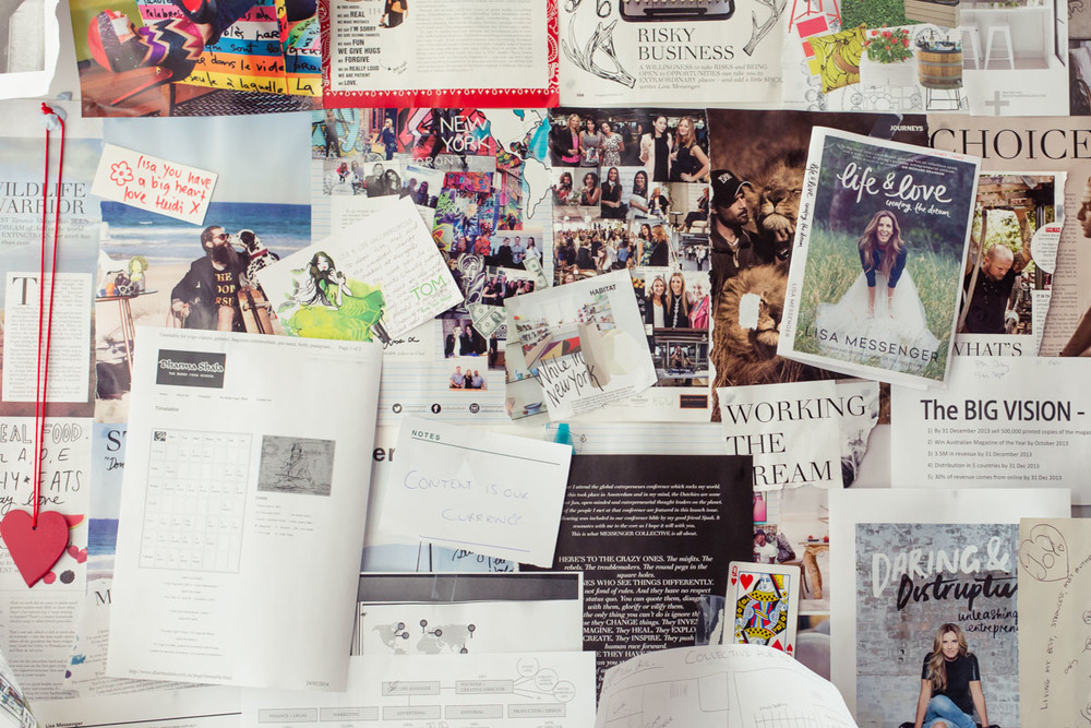 Lisa Messenger's Vision board - Extraordinary Routines