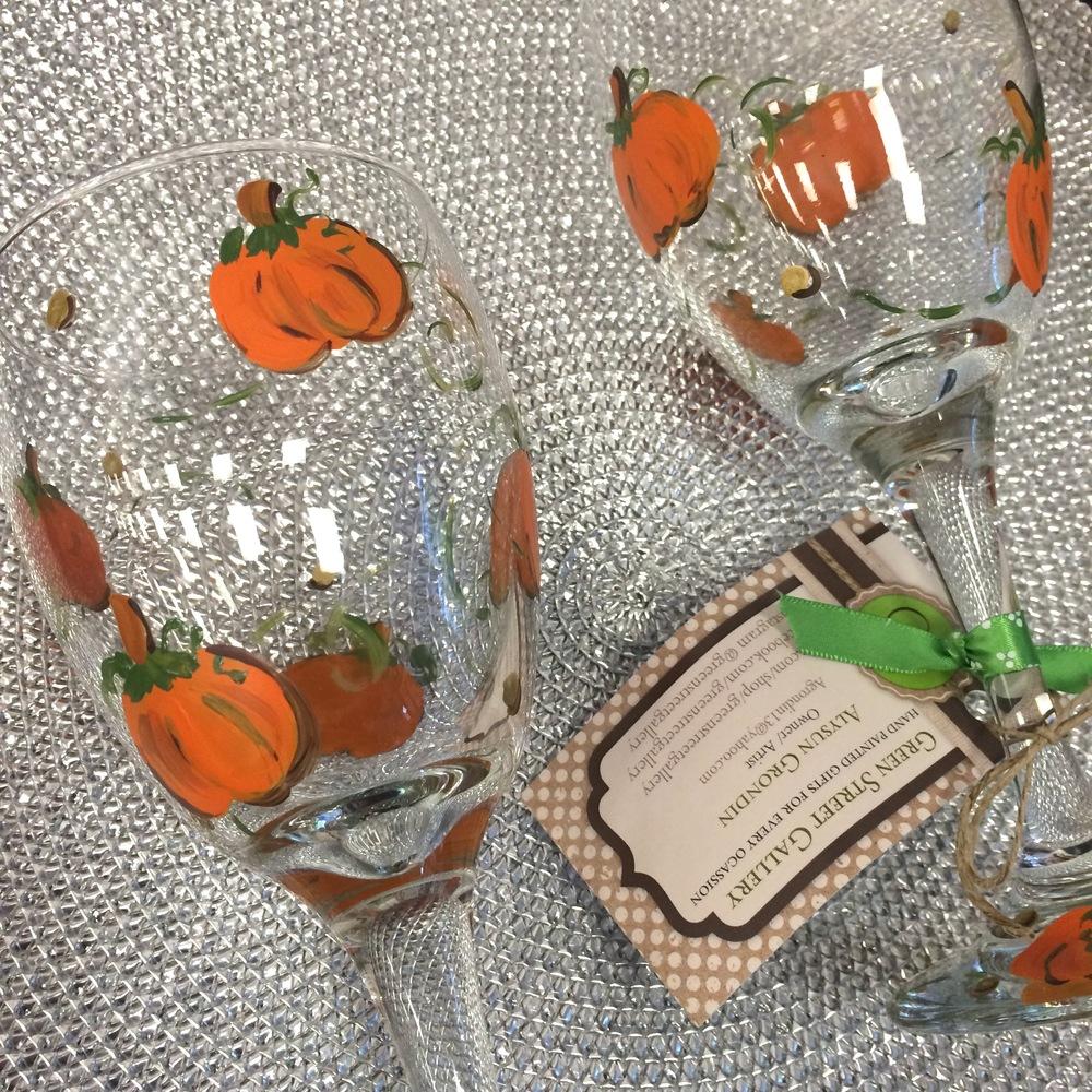 Pumpkin Wine Glasses