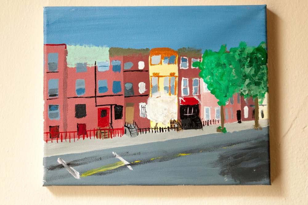 "Bushwick Ave, Acrylic on Canvas, 8""x10"", 2015"