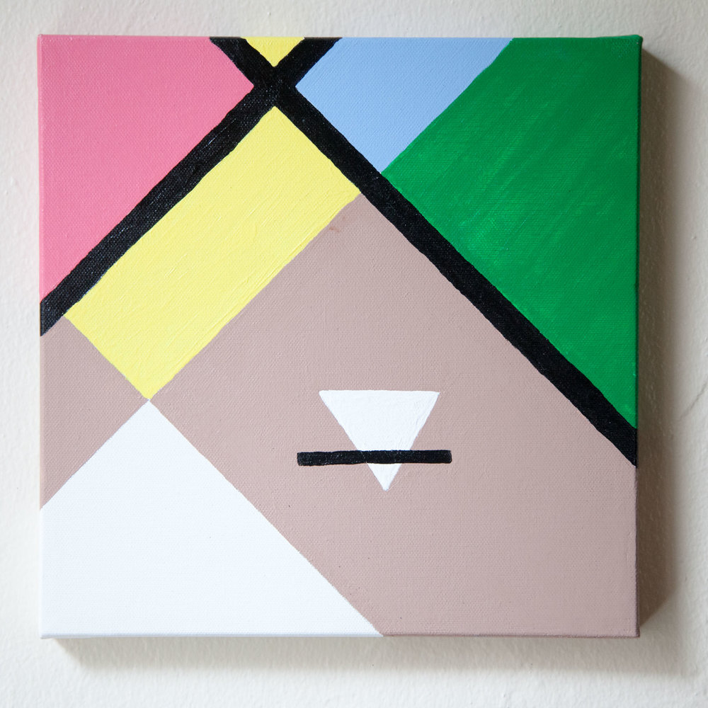 "Abstract Florida #2, Acrylic on Canvas, 10""x10"", 2014"