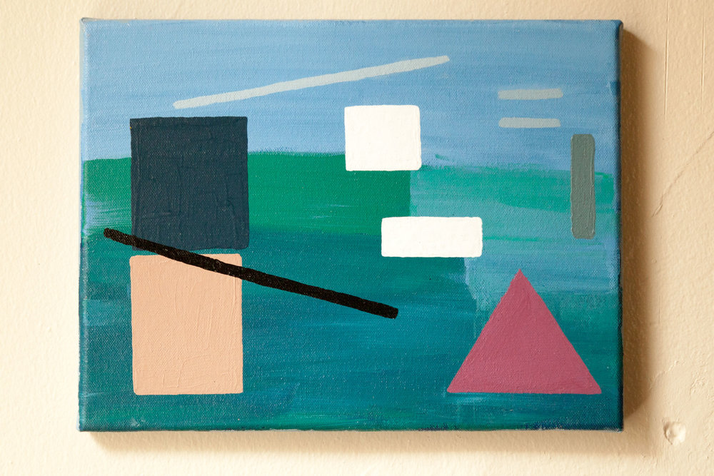 "Abstract Florida #4, Acrylic on Canvas, 9""x12"", 2014"