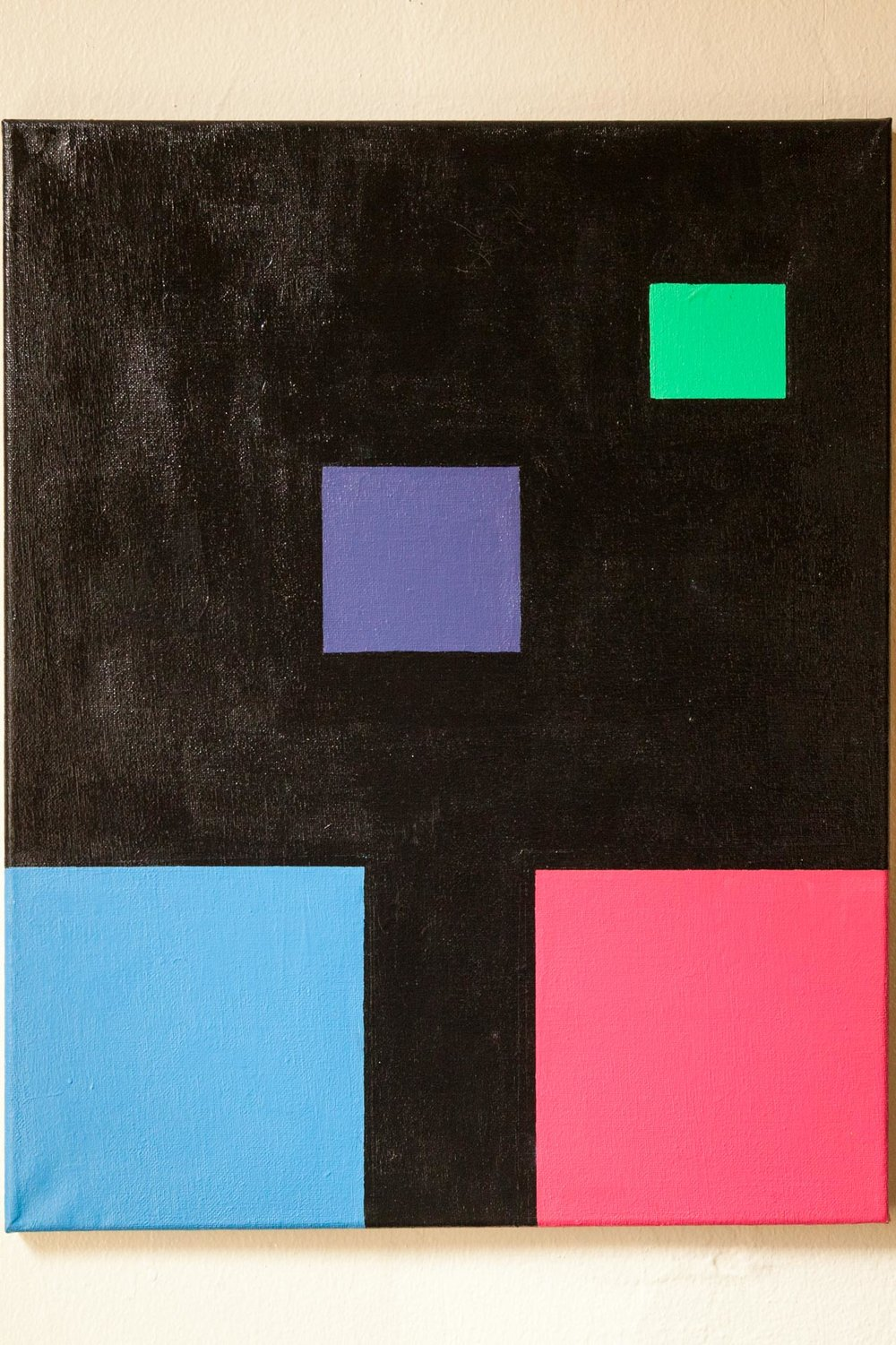 "Untitled, Abstract #1, (My First Painting), Acrylic on Canvas, 20""x 24"", 2014"