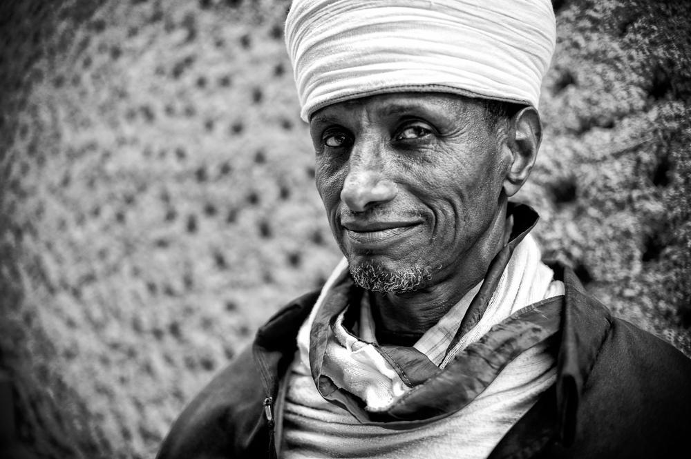 Priest Lalibela Ethiopia