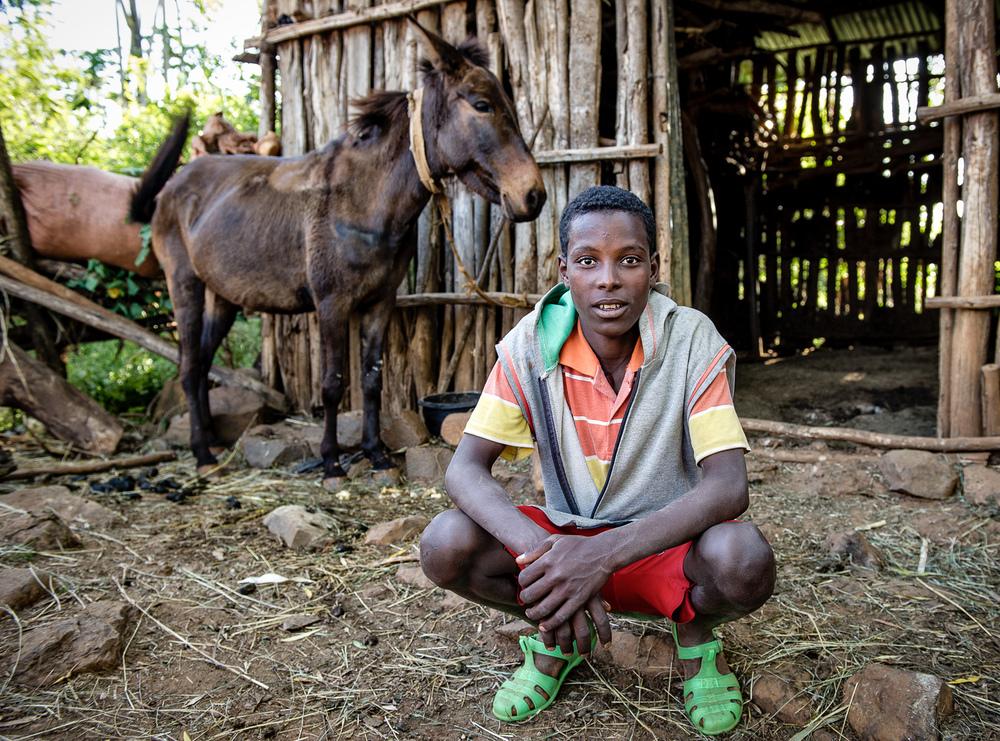 Portrait in Ethiopian Village