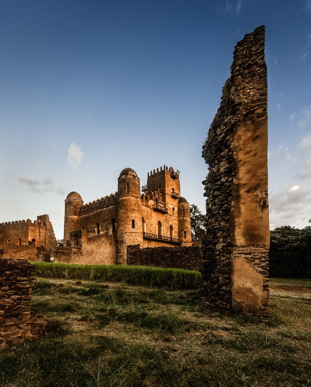 Castle remains in Gondor, Ethiopia