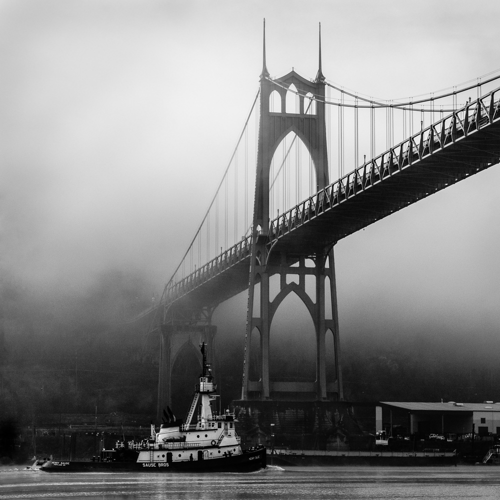 Tugboat and St. John's Bridge