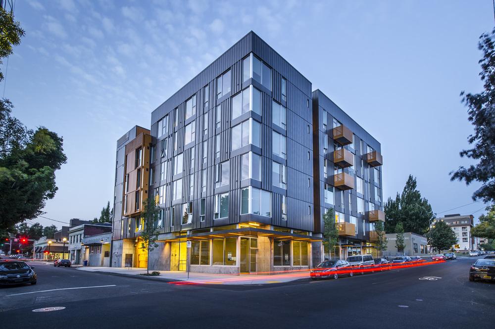 Lower Burnside Lofts, Exterior Architecture Portland, Oregon