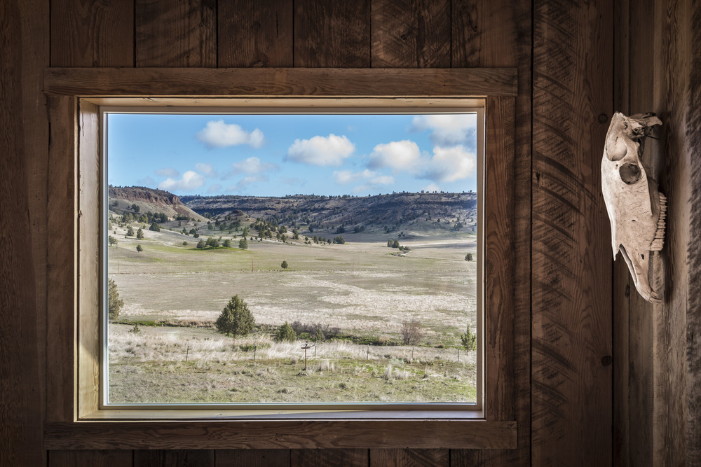 Cabin Window in Spray, Oregon