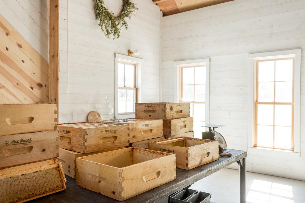 Inside the Croft Barn