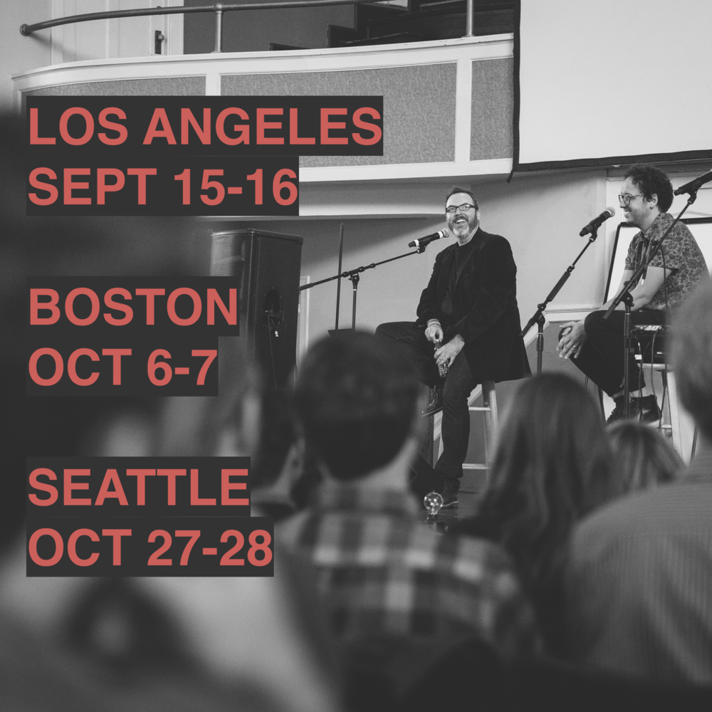 Millions learned they weren't alone via The Liturgists Podcast. Now, we're coming together in Los Angeles, Boston, and Seattle. Join us.