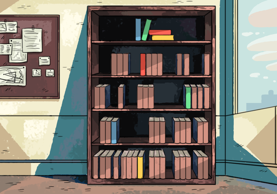 Background 1: Office Bookshelf