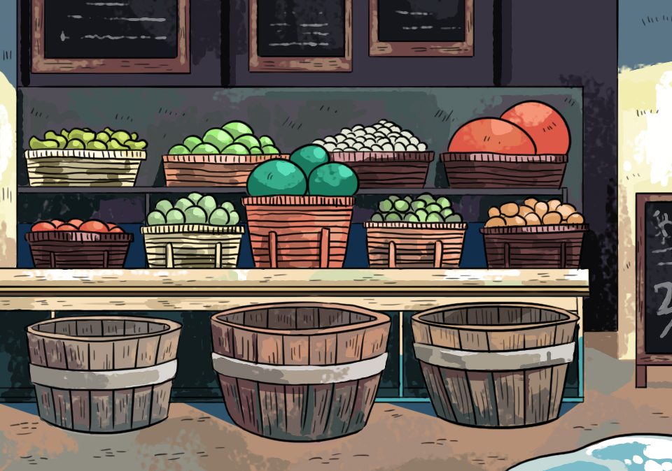 Background 2: Outside Food Market