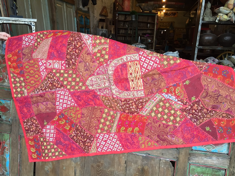 Upcycled Vintage Sari Dress Tapestry