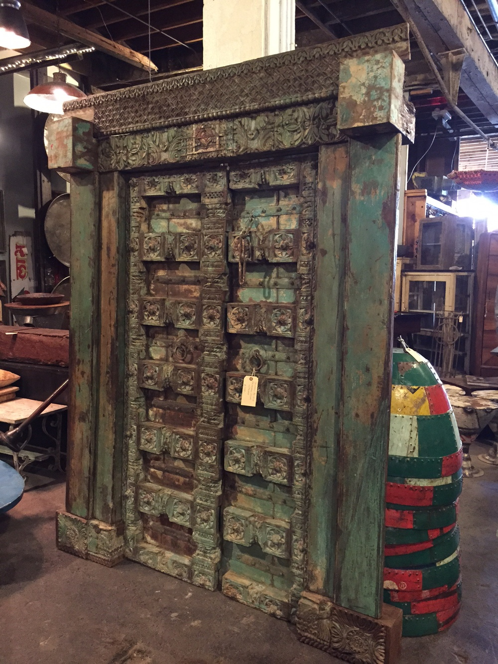 Antique Indian Door - Art & Architecture: The Statement Headboard