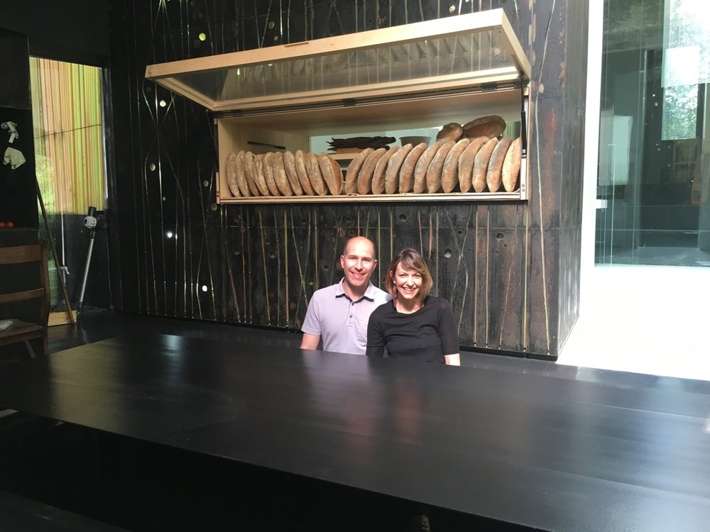 A private tour of the boutique bakery that bakes all of the loafs of bread for the number one pastry chef in the world, Albert Adrià's restaurants! This top elevates from the floor for a private dining experience in the bakery!