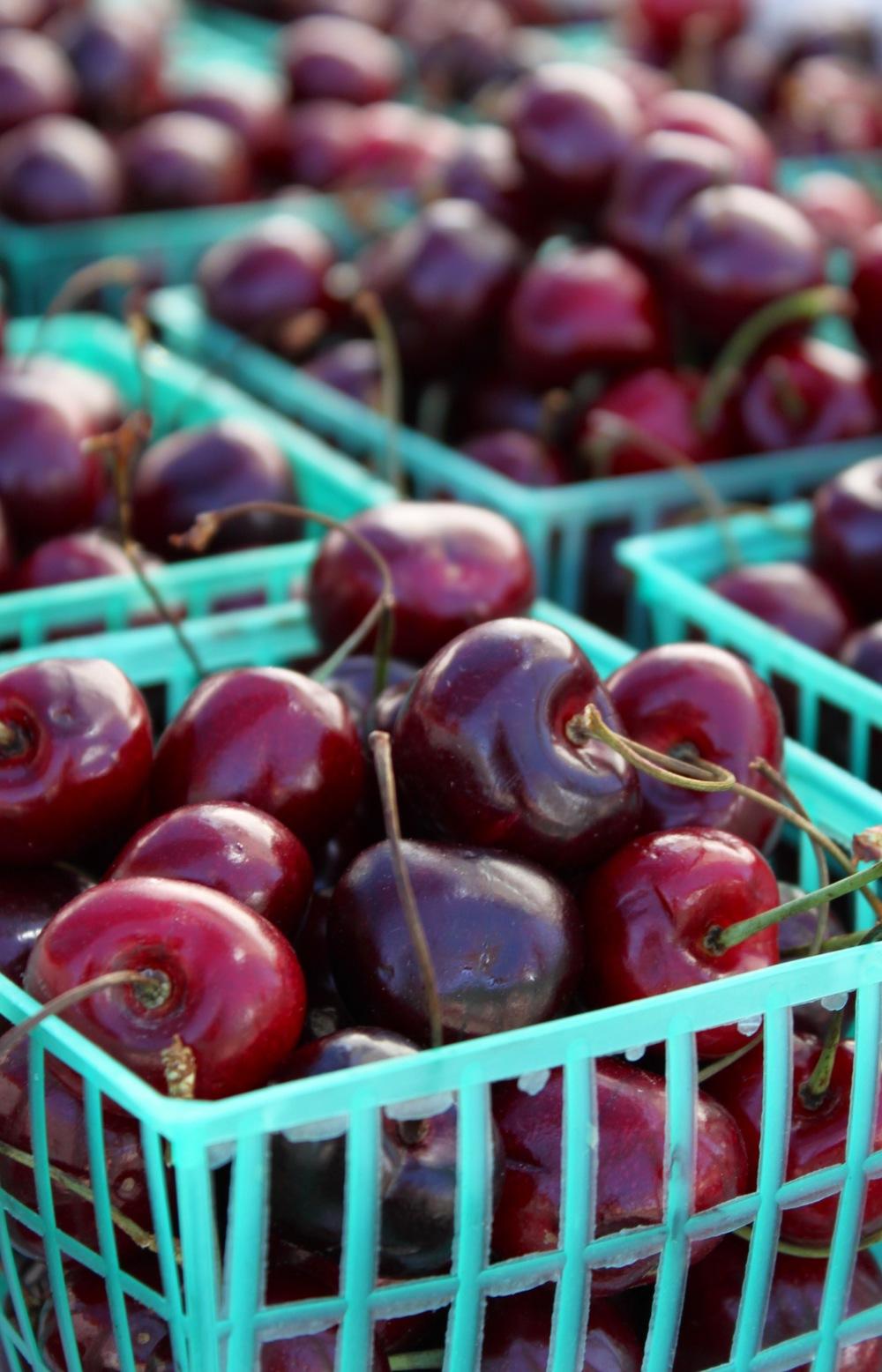 Dark Cherries Santa Rosa's West End Farmers Market