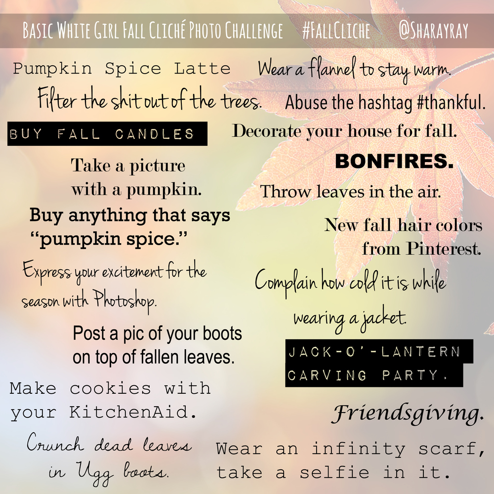 Fall Cliches