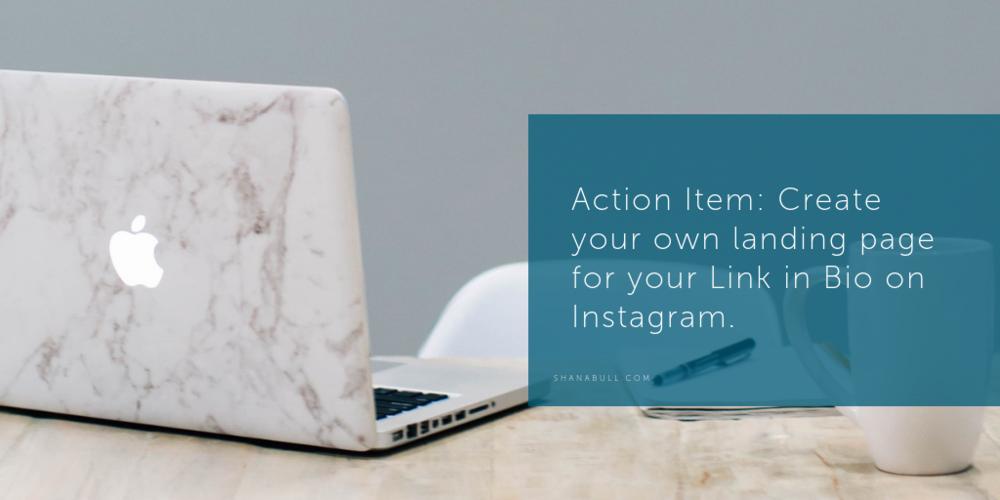 Linktree for Instagram Marketing Action Item