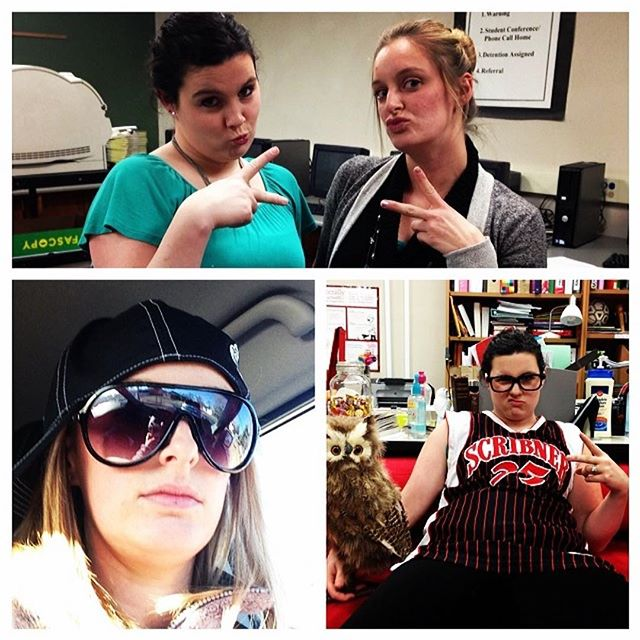 Throwback to 3 years ago when Mrs. Hamlin and I were busy creating the legendary ISTEP video. Go find it on YouTube if you've never seen our rap skills. 🎧🎤