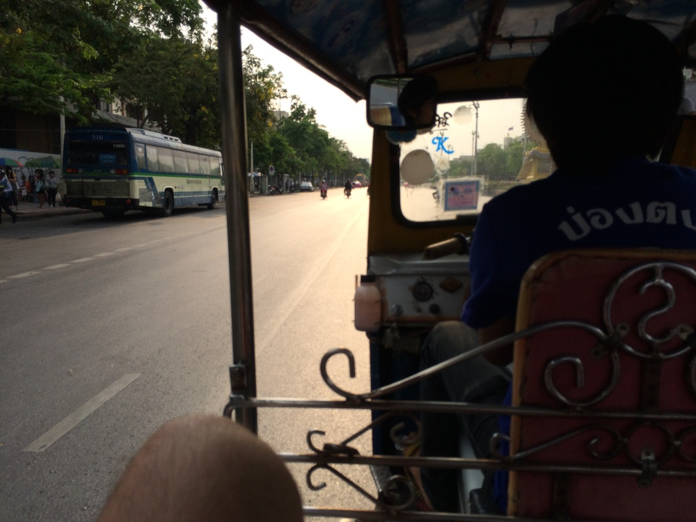 A view from inside my tuk tuk