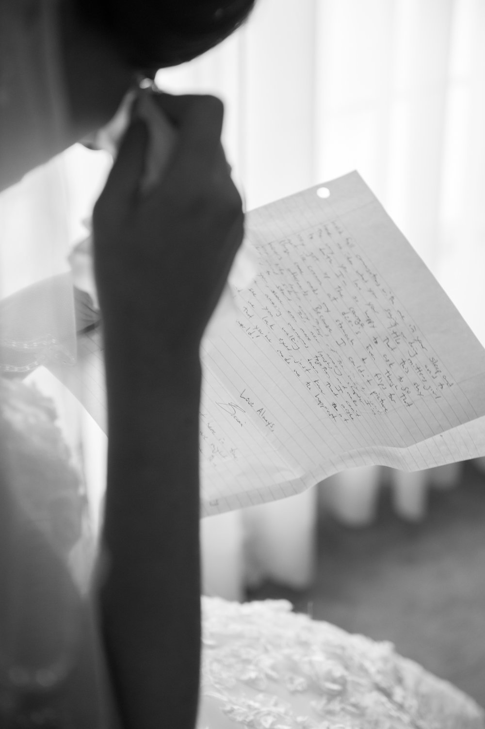 love letter from the groom at farmington gardens wedding in CT