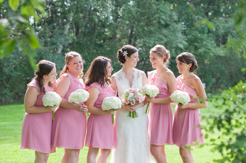 bride and her maids at Commander's Mansion summer wedding