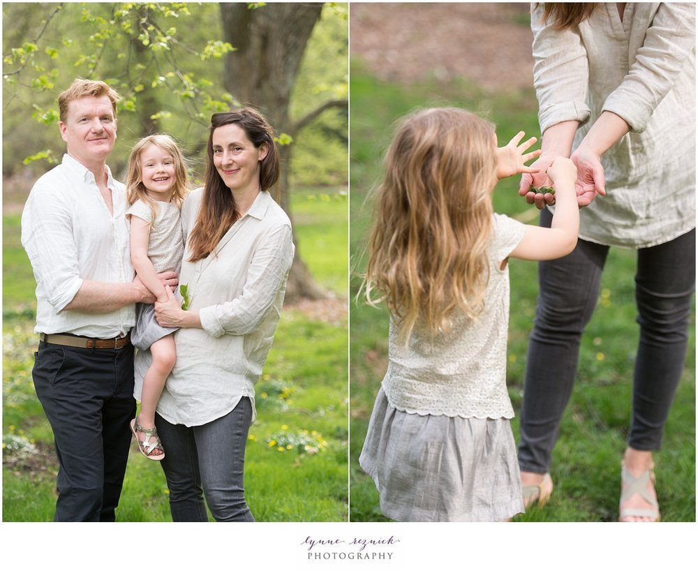 arnold arboretum makes for a light and airy backdrop for lifestyle and tradition family portrait