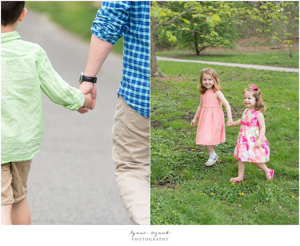 lifestyle kids portraits during Spring in the Arnold Arboretum