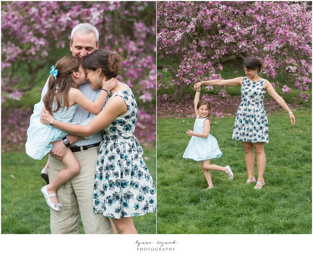 lifestyle family session at the Arnold Arboretum in Jamaica Plain Boston
