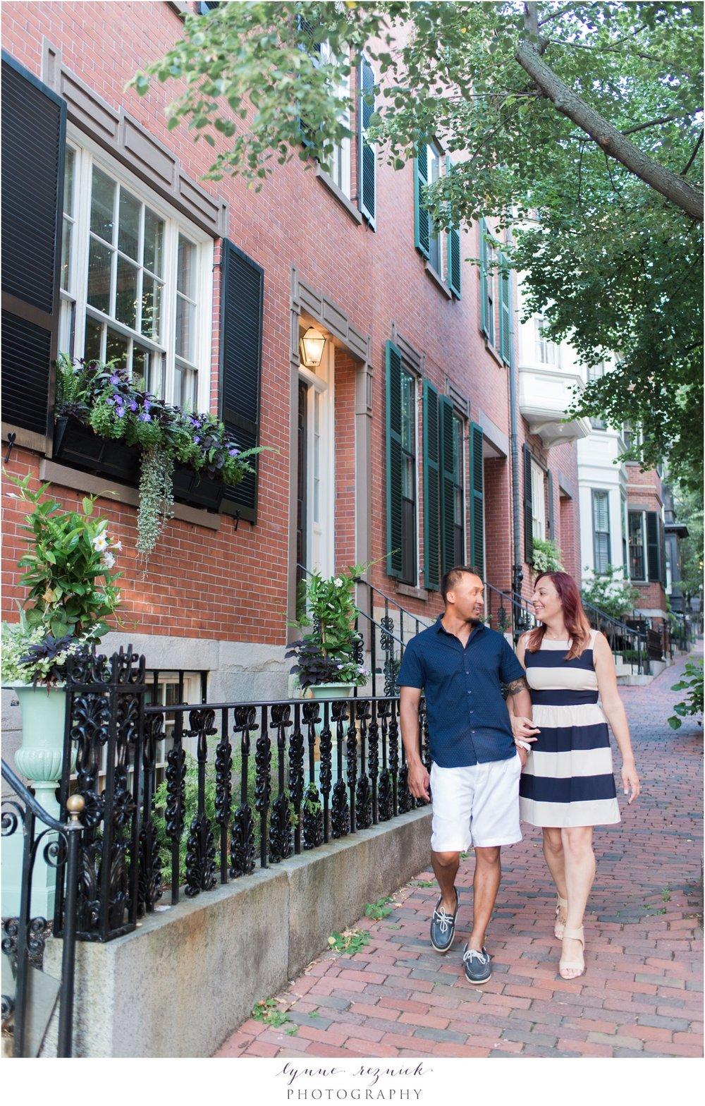 Beacon Hill Boston strolls for engagement session