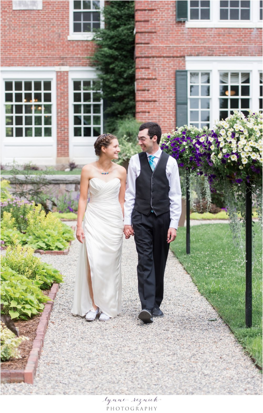 The Eleanor Bradley Estate mansion is a stunning bridal background for a summer wedding