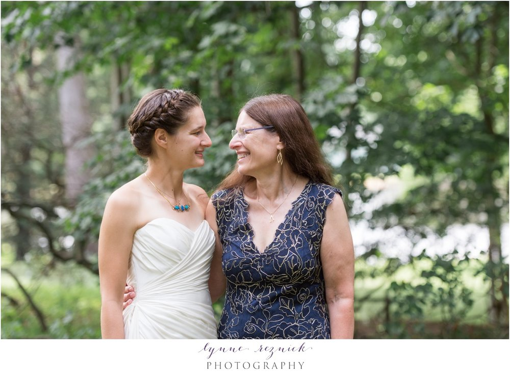 family portrait of Mom and bride at the bradley estate summer wedding