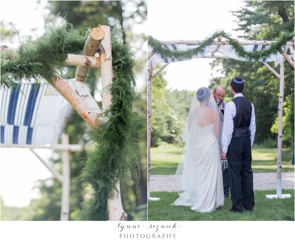 chuppa for summer wedding at eleanor bradley estate