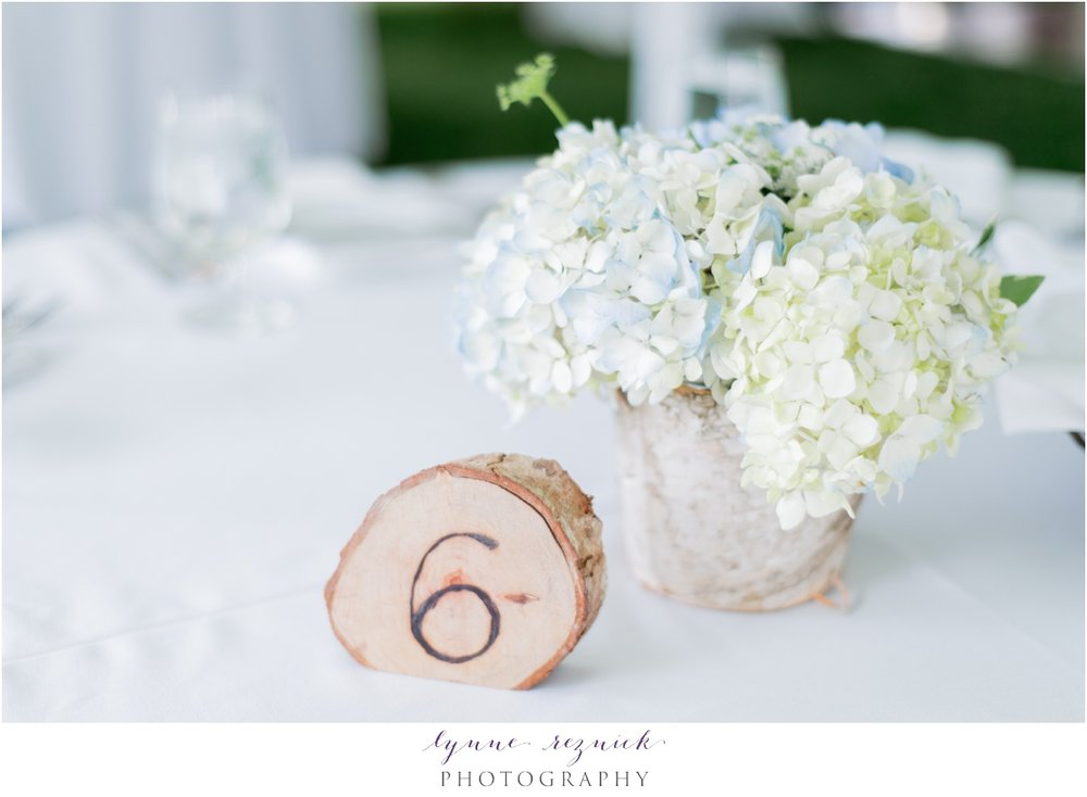 hydrangea centerpieces from A Whole Bunch Flower Market
