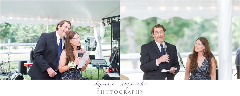parent toasts during tented Bradley Estate wedding
